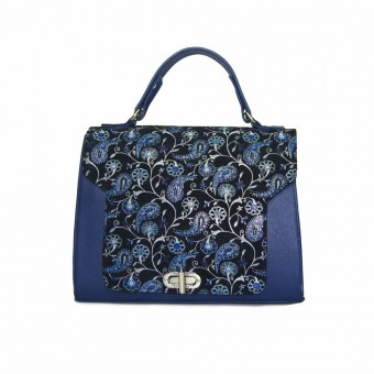 Geanta dama Zea office,blue floral